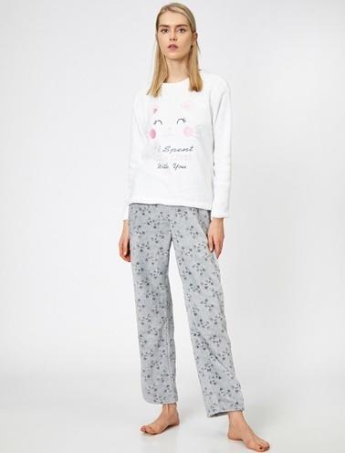 Koton Pijama Takım Gri